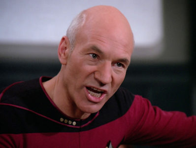 "Jean-Luc Picard (Patrick Stewart) from ""Star Trek: The Next Generation,"" 1989 episode ""The Measure of a Man"""